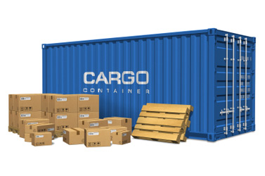 Cargo Container and Boxes