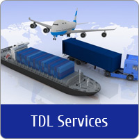 A Plane, Cargo Ship and Lorry